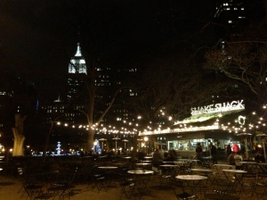 Empire State Building and original Shake Shack (with most amazing burgers)