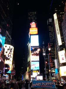 Times Square and the ball that will ring in the New Year